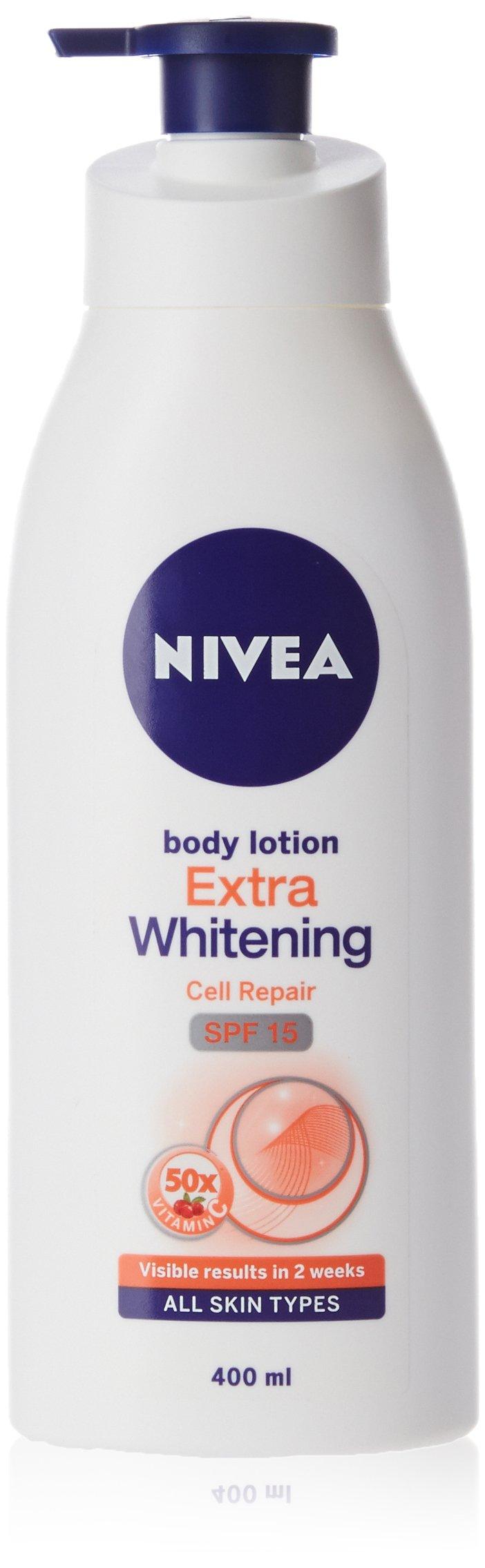 Nivea Extra Whitening Cell Repair Body Lotion Spf 15 400ml Amazon White Firming Spf15 400 Ml