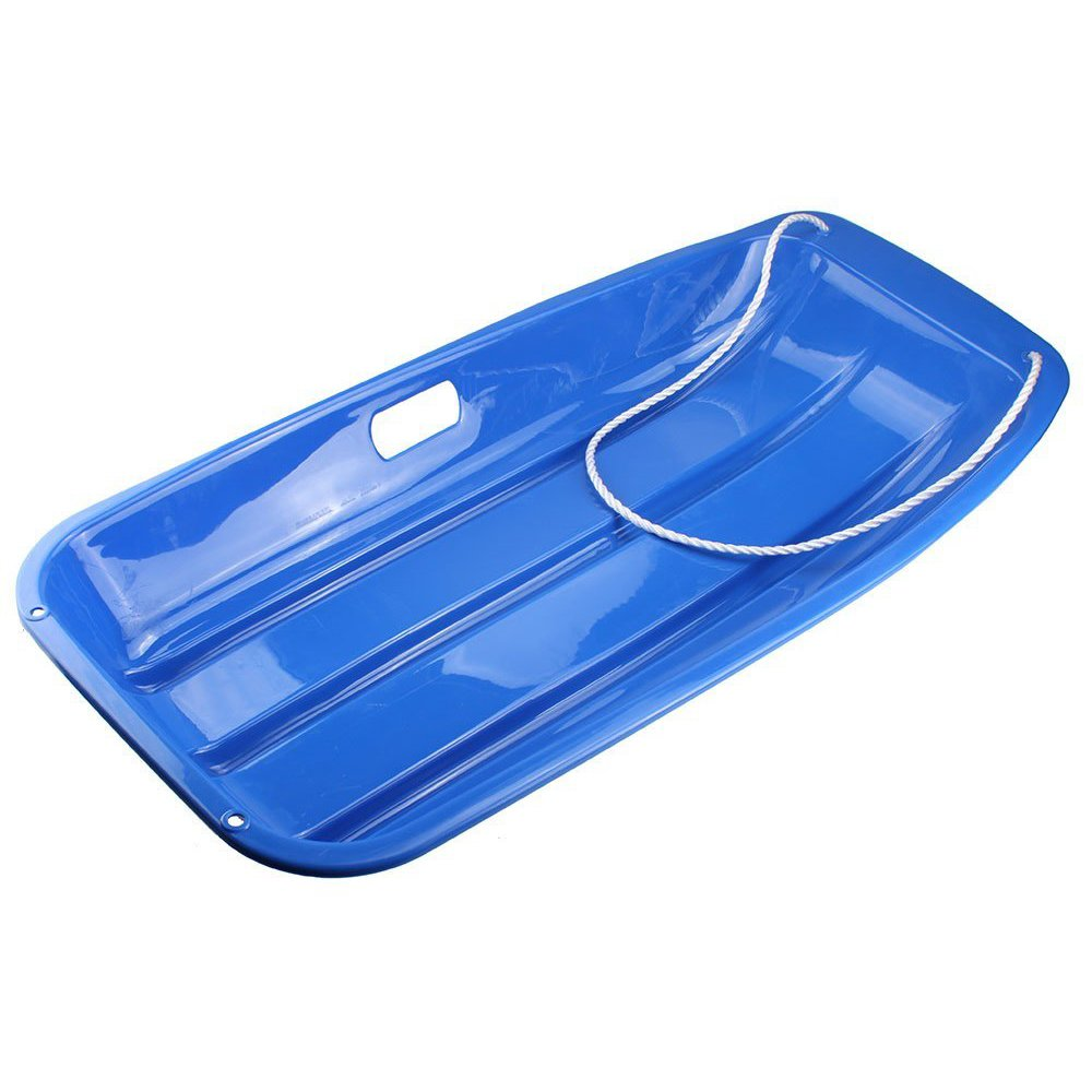 TOOGOO(R) Plastic Outdoor Toboggan Snow Sled for Child, 35-Inch, Blue by TOOGOO(R)