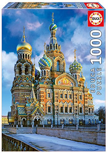 Educa Church of The Resurrection of Christ Puzzle (1000 Piece), One Color