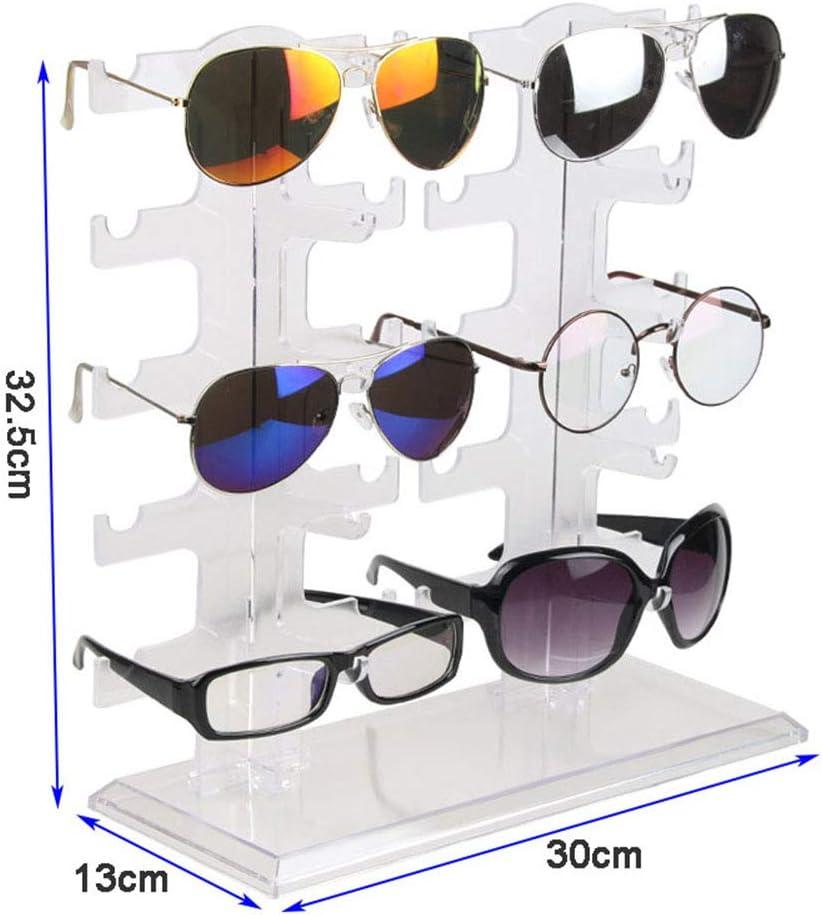 5 Ebenen Acryl Brillen Sonnenbrillen Brillen Display Standhalter Halter Rack