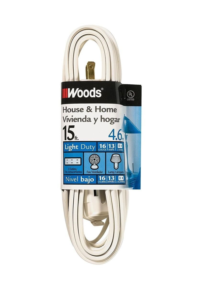 Amazon.com: Coleman Cable 0603W 4 Pack 16/2 15ft. Cube Tap Extension ...