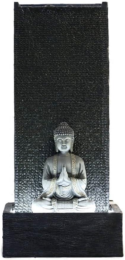 Fuente jardín fuente exterior Buda XL con LED blanco 100 cm: Amazon.es: Hogar