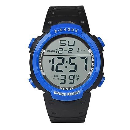 Xinantime Reloje Hombres,Xinan Reloj Deportivo Digital LCD Chico Niños Relojes (Azul)