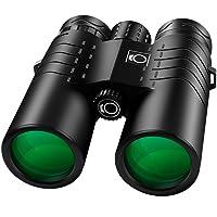 K&F Concept TC006 10 x 42 Jumelle Compacte Binoculaires à Large Champ IP68 Étanche BAK4 Prisme Revêtement Vert Téléscope pour Observation Oiseaux, Chasse, Randonnée, Concert