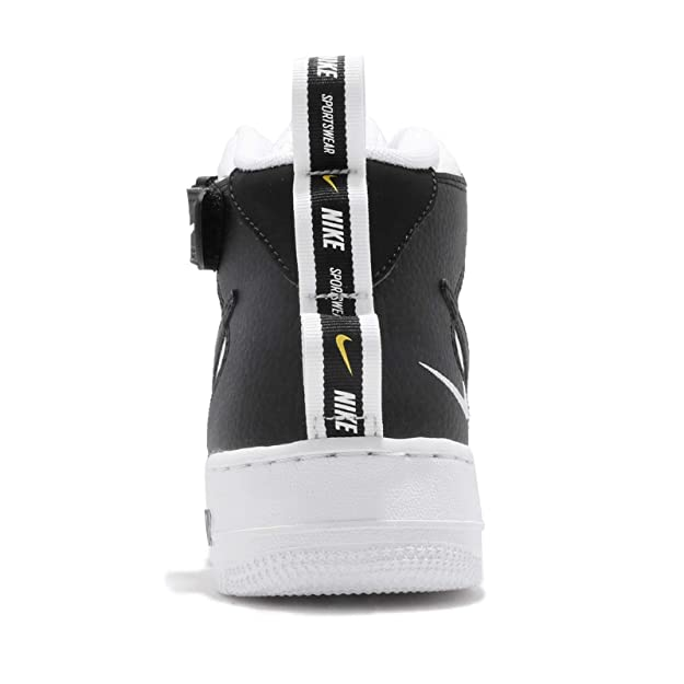 buy popular af30e 58619 Nike Men s Air Force 1 Mid  07 Lv8 Gymnastics Shoes, (White Black Tour  Yellow 103), 6 UK  Amazon.co.uk  Shoes   Bags