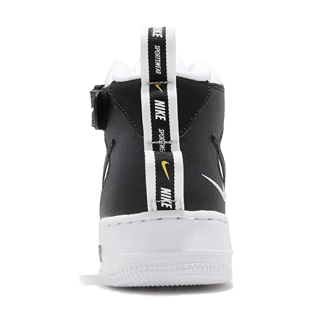 buy popular 6d485 111a0 Nike Men s Air Force 1 Mid  07 Lv8 Gymnastics Shoes, (White Black Tour  Yellow 103), 6 UK  Amazon.co.uk  Shoes   Bags