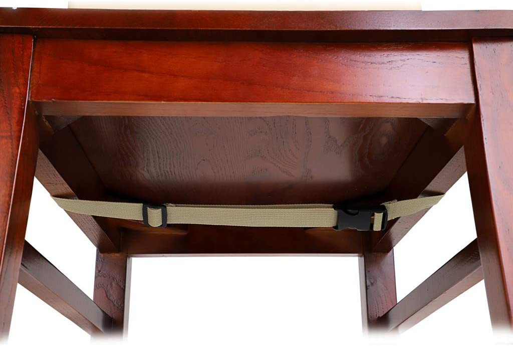 marron BSTKEY Si/ège rehausseur amovible r/églable lavable avec sangles pour chaise de salle /à manger Kaki