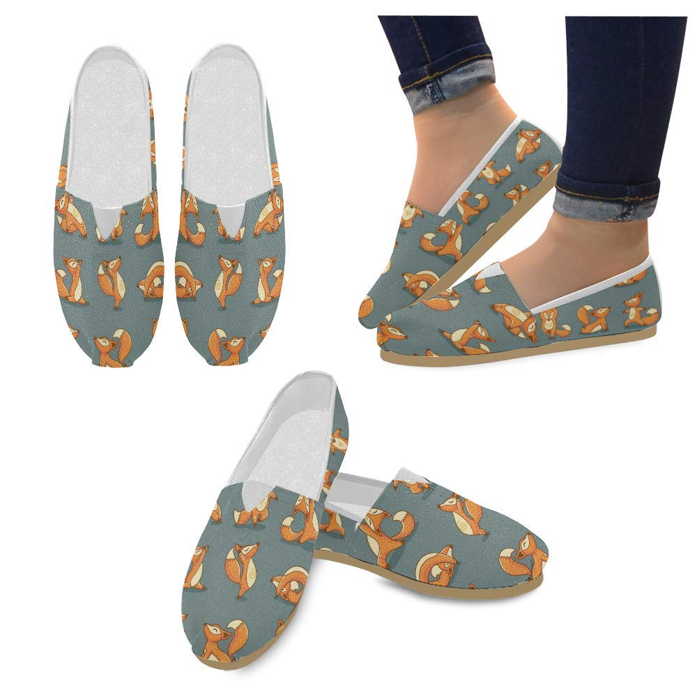 Unisex Shoes Sporting Fox Casual Canvas Loafers for Bia Kids Girl Or Men