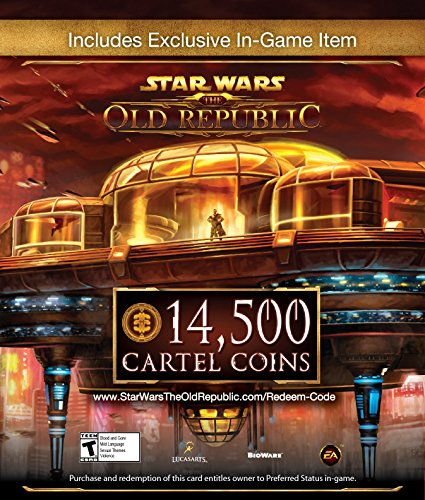 Star Wars  The Old Republic   14 500 Cartel Coins   Exclusive Item  Online Game Code