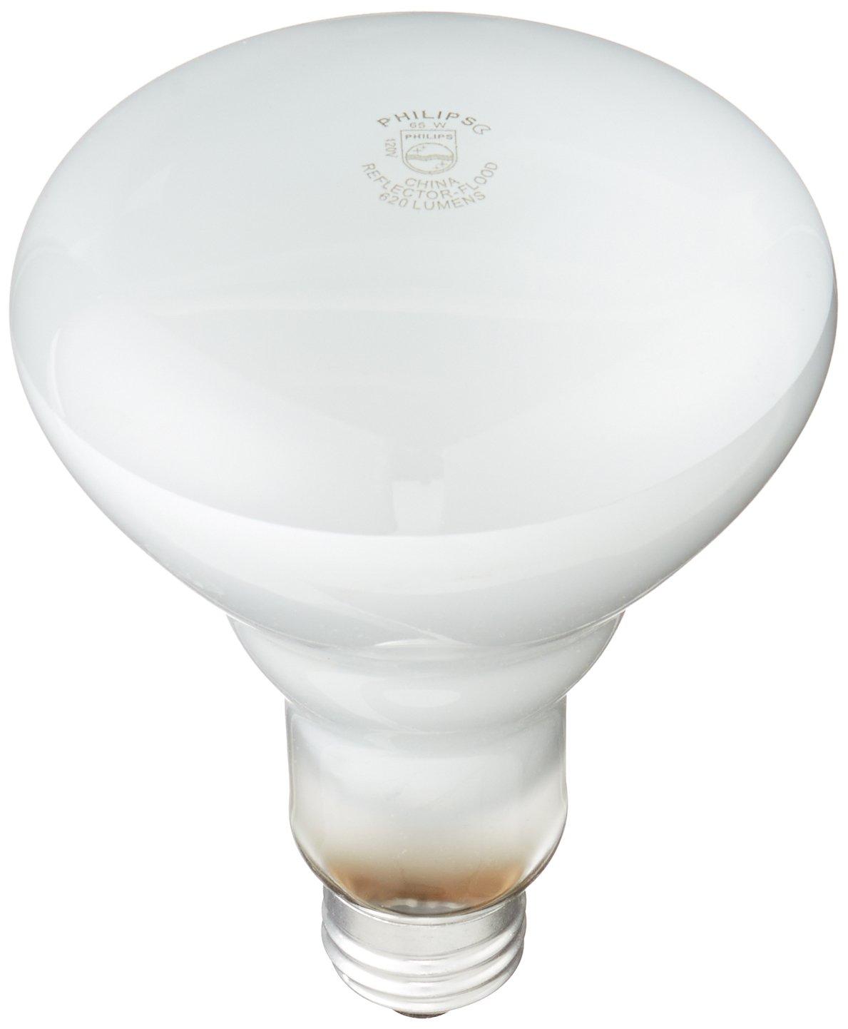 Philips 248872 Soft White 65 Watt BR30 Indoor Flood Light Bulb, 12 Pack    Incandescent Bulbs   Amazon.com
