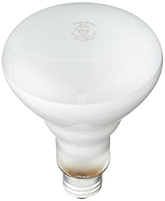 Philips 248872 Soft White 65-Watt BR30 Indoor Flood Light Bulb, 12 ...