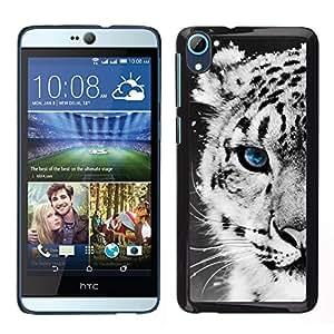 [Neutron-Star] Snap-on Series Teléfono Carcasa Funda Case Caso para HTC Desire D826 [Snow Leopard Winter Cub Puppy Baby]