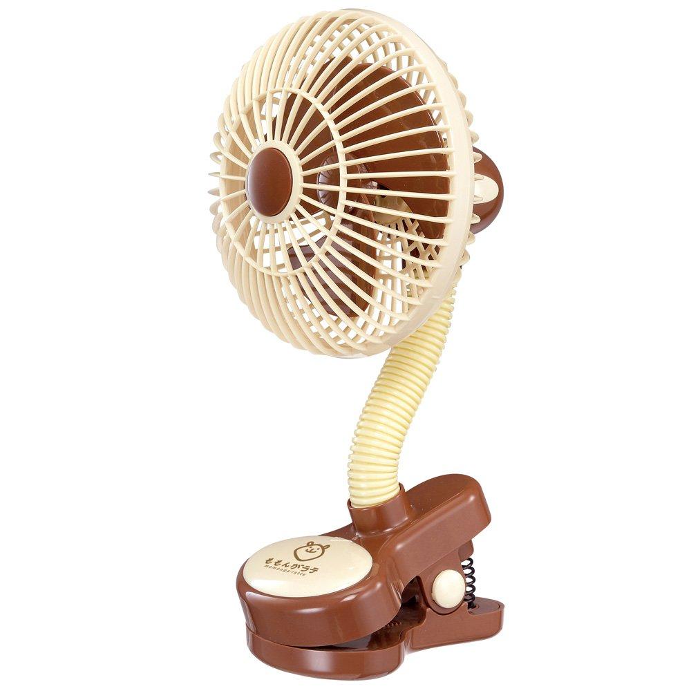 Momonga Safety Clip on fan (2016 New Design) (Latte)