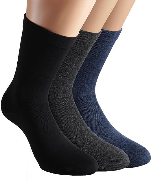 Vitasox Calcetines de señora extraanchos de algodón, calcetines sanitarios sensibles sin elástico, sin costura, lote de 6 u 8 unidades: Amazon.es: Ropa y ...