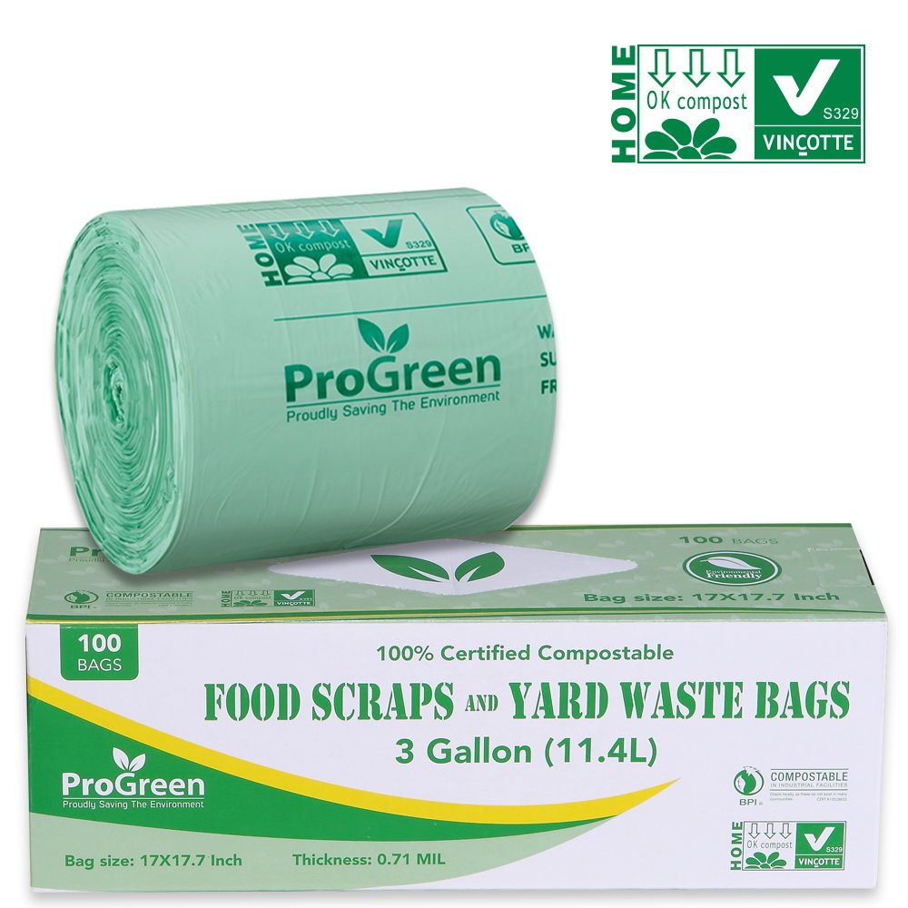 872bea05945 ProGreen 100% Compostable Bags 3 Gallon