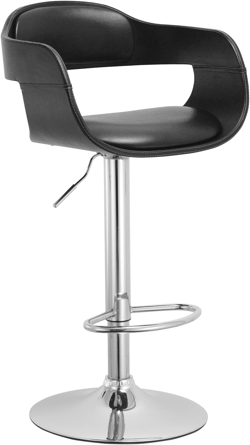 Christies Home Living Contemporary Swivel Adjustable Barstool With Padded Seat Furniture Decor