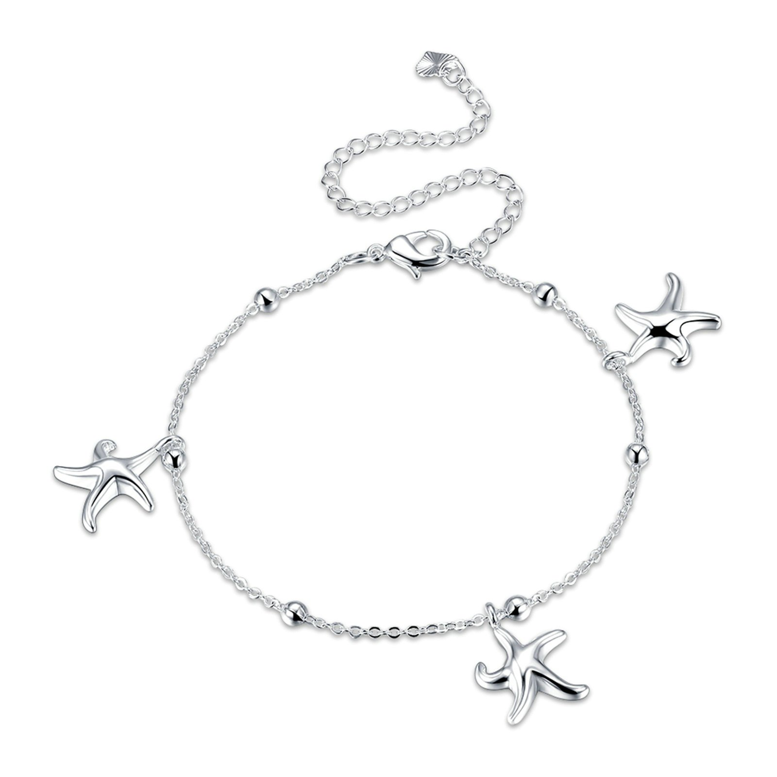 Bishilin Beach Foot Jewelry Wedding Rolo Starfishs Beads anklet ocean 20 CM