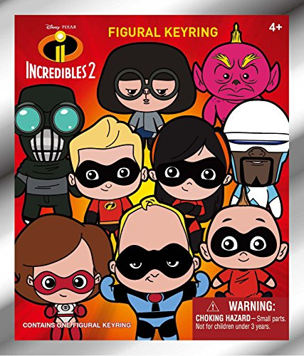 (Disney / Pixar 3D Figural Keyring - The Incredibles 2 - Mystery Pack | Collectible Superhero Toy Figures from the Movie | Fun for the Whole Family - Men, Women)