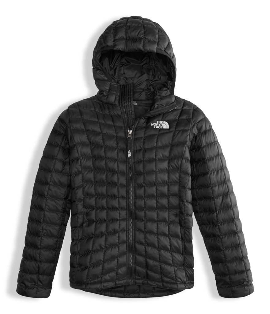 The North Face Girls Thermoball Hoodie Black (Large)