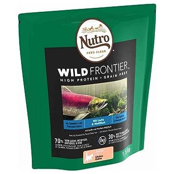 Pienso Gato Junior Salmón y Pescado Blanco 1,5kg Wild Frontier Nutro: Amazon.es: Productos para mascotas