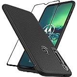 EasyLifeGo - Carcasa para Motorola Moto G8 Plus con protector de visualización de vidrio templado (2 unidades)