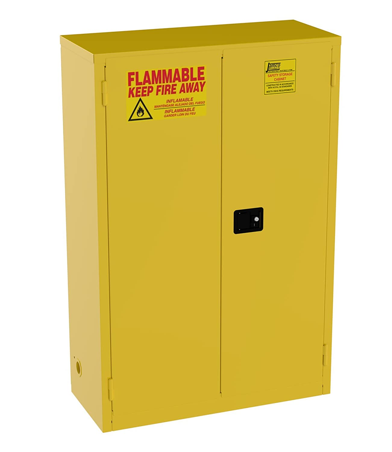 Jamco Products Inc BM45 YP Safety Flammable Cabinet, Two Door, Manual  Close, 43 Inch X 18 Inch X 65 Inch   Tool Cabinets   Amazon.com