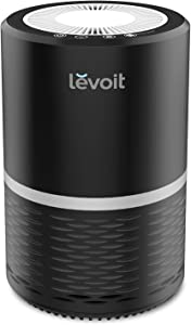 LEVOIT Air Purifier for Home Smokers Allergies and Pets Hair, True HEPA Filter, Quiet in Bedroom, Filtration System Cleaner Eliminators, Odor Smoke Dust Mold, Night Light, Black, 2-Yr Warranty,LV-H132
