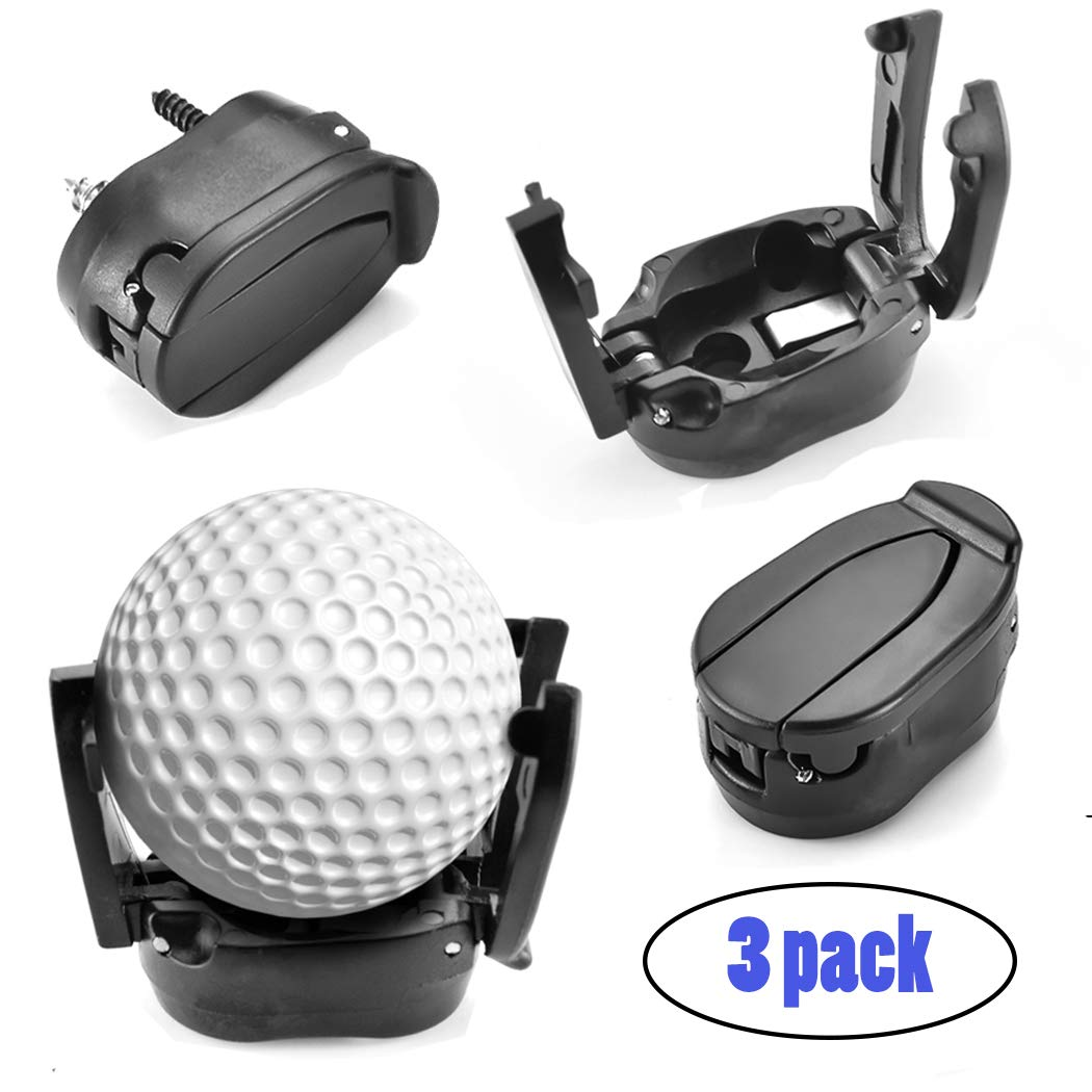 Seafirst Golf Ball Pick Up Tool Saver Putter Grip Black Retriever Plastic Claw Grabber Sucker Golf Accessories