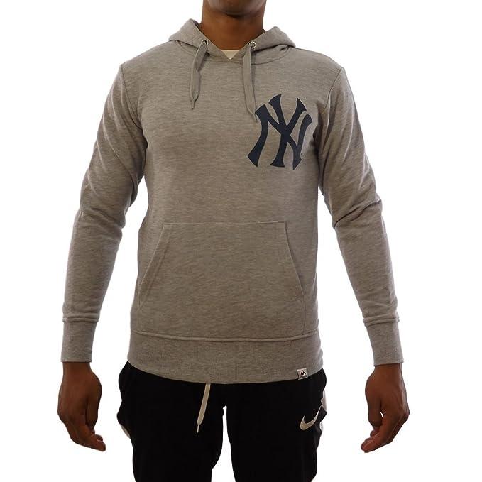 Majestic Sudadera Capucha MLB New York Yankees Noos Gamily Gris/Azul Talla: S (