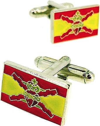 Gemelos para Camisa Bandera Sagrado Corazon con Cruz de San Andres: Amazon.es: Ropa y accesorios