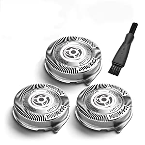 SH50/52 Shavers Replacement Heads Compatible for Philips Norelco Series 1000, 2000, 3000 Shavers and S738 Click and Style, Very sharp and Easy Cut