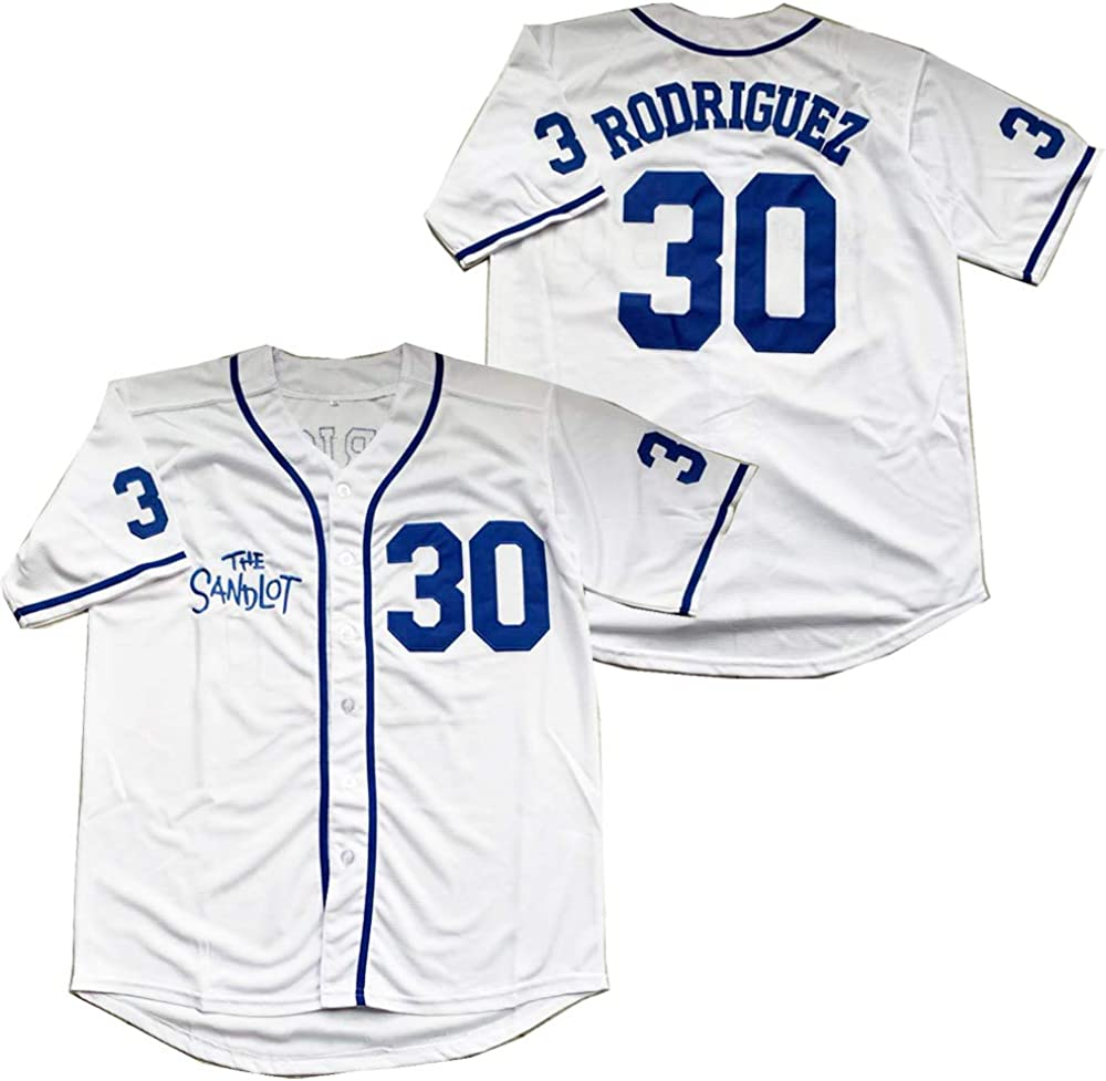 The Sandlot Benny Jersey The Jet Rodriguez Michael Squints Palledorous Alan Yeah-Yeah McClennan Movie Baseball Jersey
