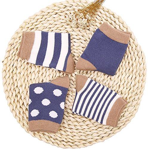 Unisex Baby Socks 4 Pack - Jispu Breathable Cotton