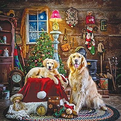 Sunsout 39435 Hersberger Santas Little Helpers Puzzle Quadrato 1000 Pezzi