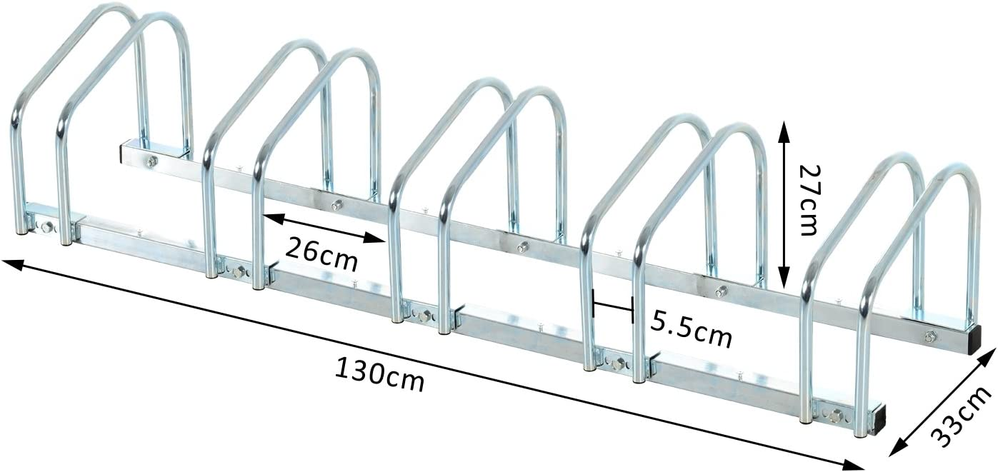 Homcom V/élo de support Support Support Support Support v/élo en acier galvanis/é 4/tailles