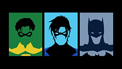 Posterhouzz Comics Batman Robin Nightwing HD Wallpaper Background Fine Art Paper Print Poster ABO1365