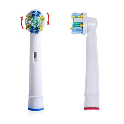 Spares2go - Cabezales para cepillo de dientes eléctrico Oral B EB25-A (4 unidades) + 1 práctica funda de viaje: Amazon.es: Hogar