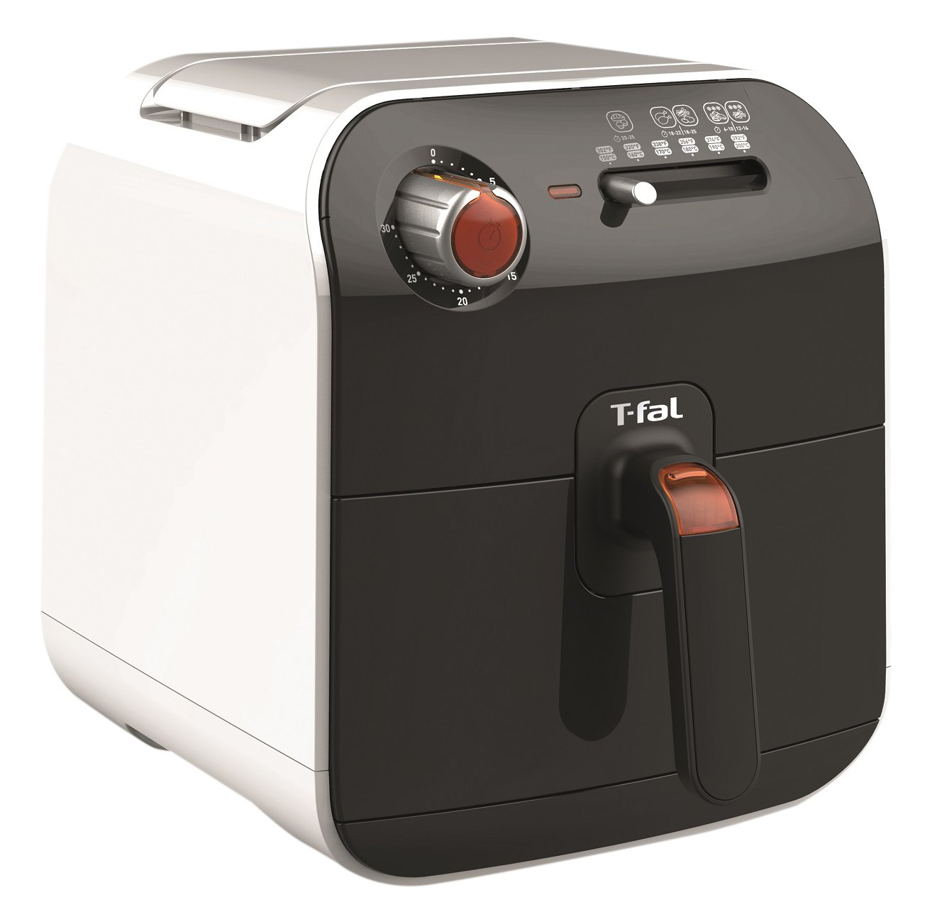 $99 Only T-fal Fry Delight Air Fryer-Mechanical Control, Black and White