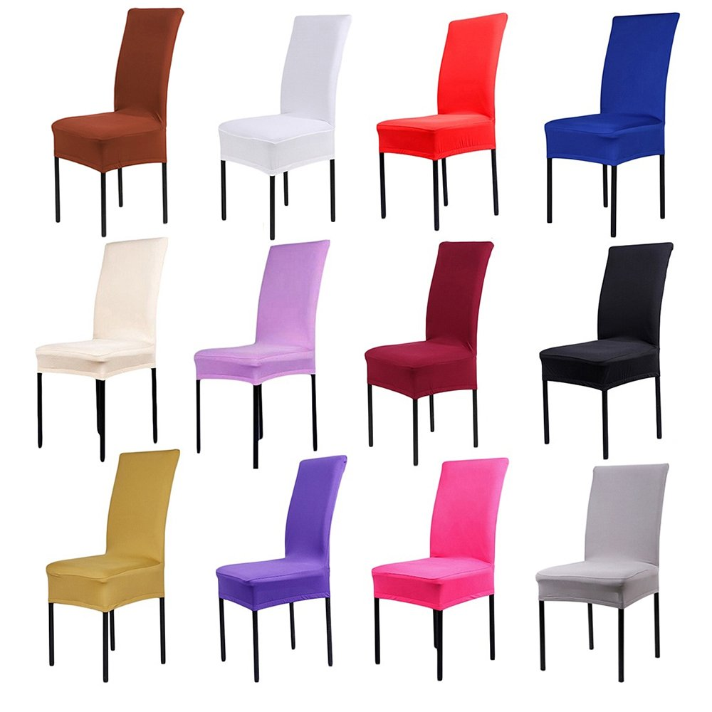 BluelansR Dining Chair Covers Spandex Stretch Slipcovers Room Protectors