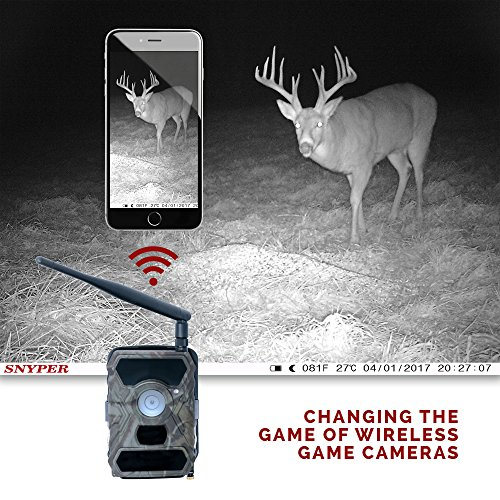 Commander 3G ATT 1080p HD Wireless Trail Camera w viewing screen ATT SIM Card Cellular Game Camera Security Camera 12 MP 56 Cell Trail Camera by Snyper Hunting Camo Commander 3G Original Game Trail Cameras