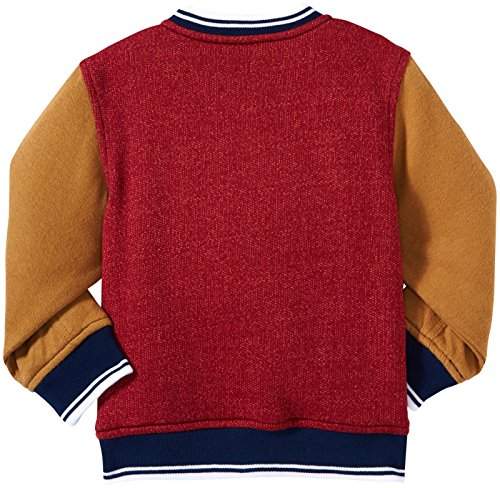 Kapital K Little Boys' Varsity Jacket (Toddler/Kid) - Cranberry - Medium