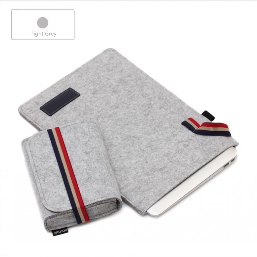 Xie (Sleeve pour MacBook 33cm MacBook Air 27,9cm Matériau textile Couleur unie Style simple loisir sacoche pour ordinateur portable couleur unie 13.3' noir