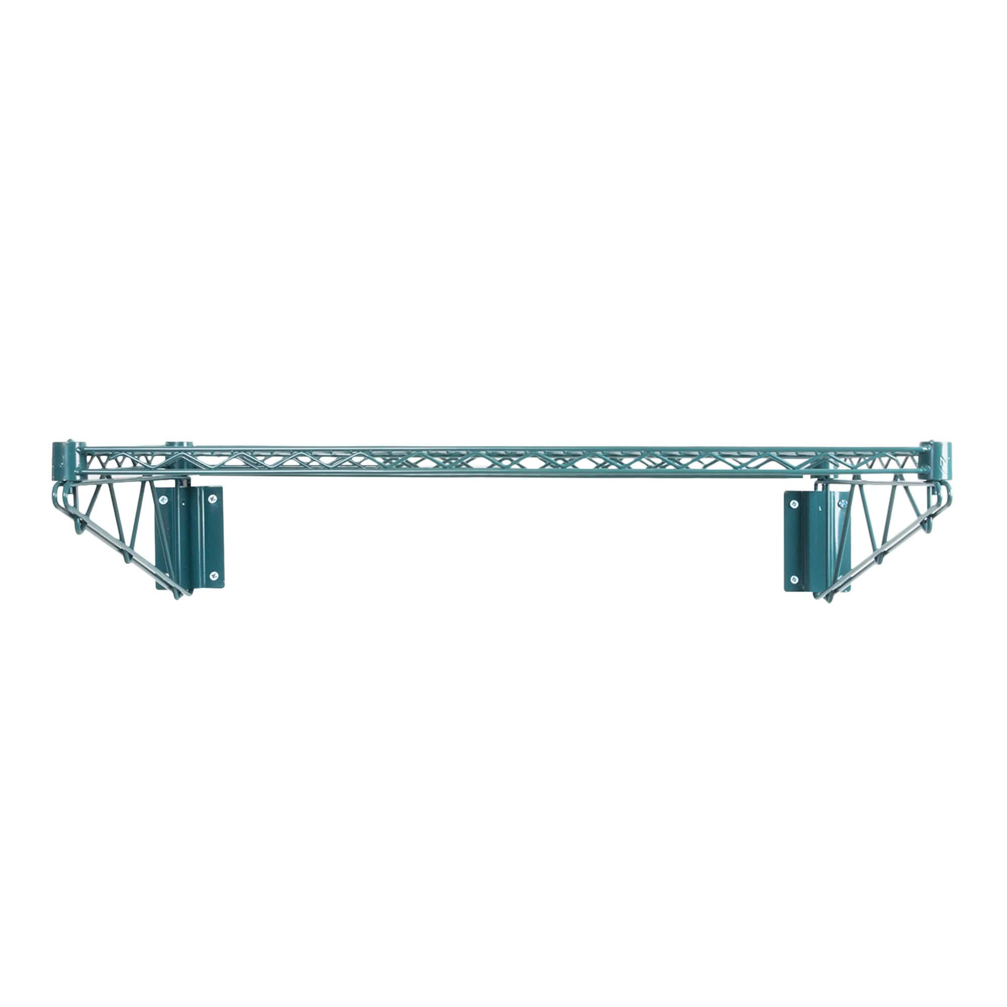 Green Epoxy Coated Wire Wall Mount Shelf 24 x 60 - NSF - Commercial by KPS (Image #3)