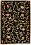 "Safavieh Chelsea Collection HK248B Hand-Hooked Black Premium Wool Area Rug (1'8"" x 2'6"")"