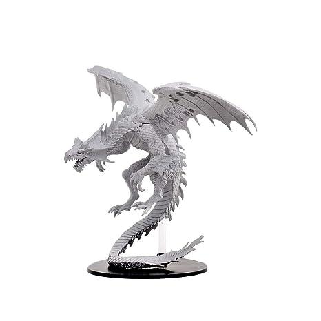 WizKids Pathfinder Deep Cuts Unpainted Miniatures: Gargantuan White Dragon