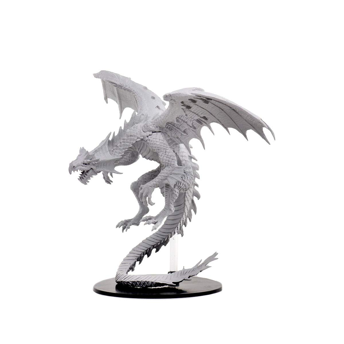 WizKids Pathfinder Deep Cuts Unpainted Miniatures: Gargantuan White Dragon
