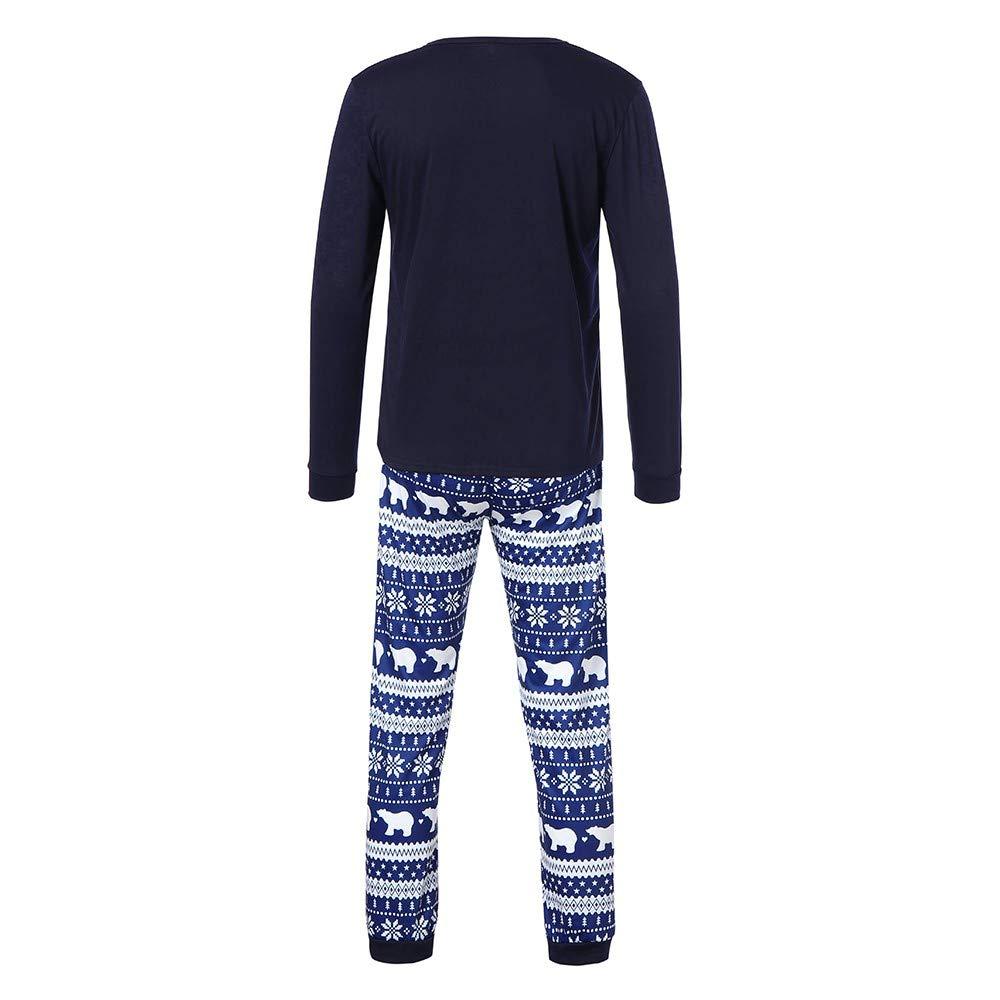 Family Christmas Pajamas Set,Small Bear Top+Snowflake Pants Clothes