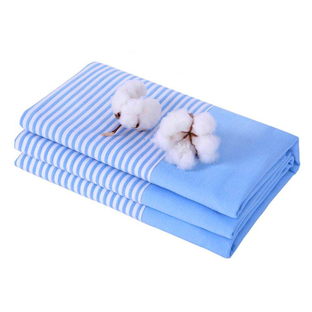 diercosy SimpleツインフラットシートKingサイズPrettyストライプベッドシートクイーンサイズベッドLines Bedsheetホワイトライトブルー B078981T8D