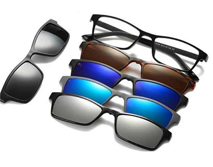cd82f584d4fb9 Image Unavailable. Image not available for. Colour  REACTR Polarised 5-in-1  Magnetic Clip on Unisex Sunglasses ...