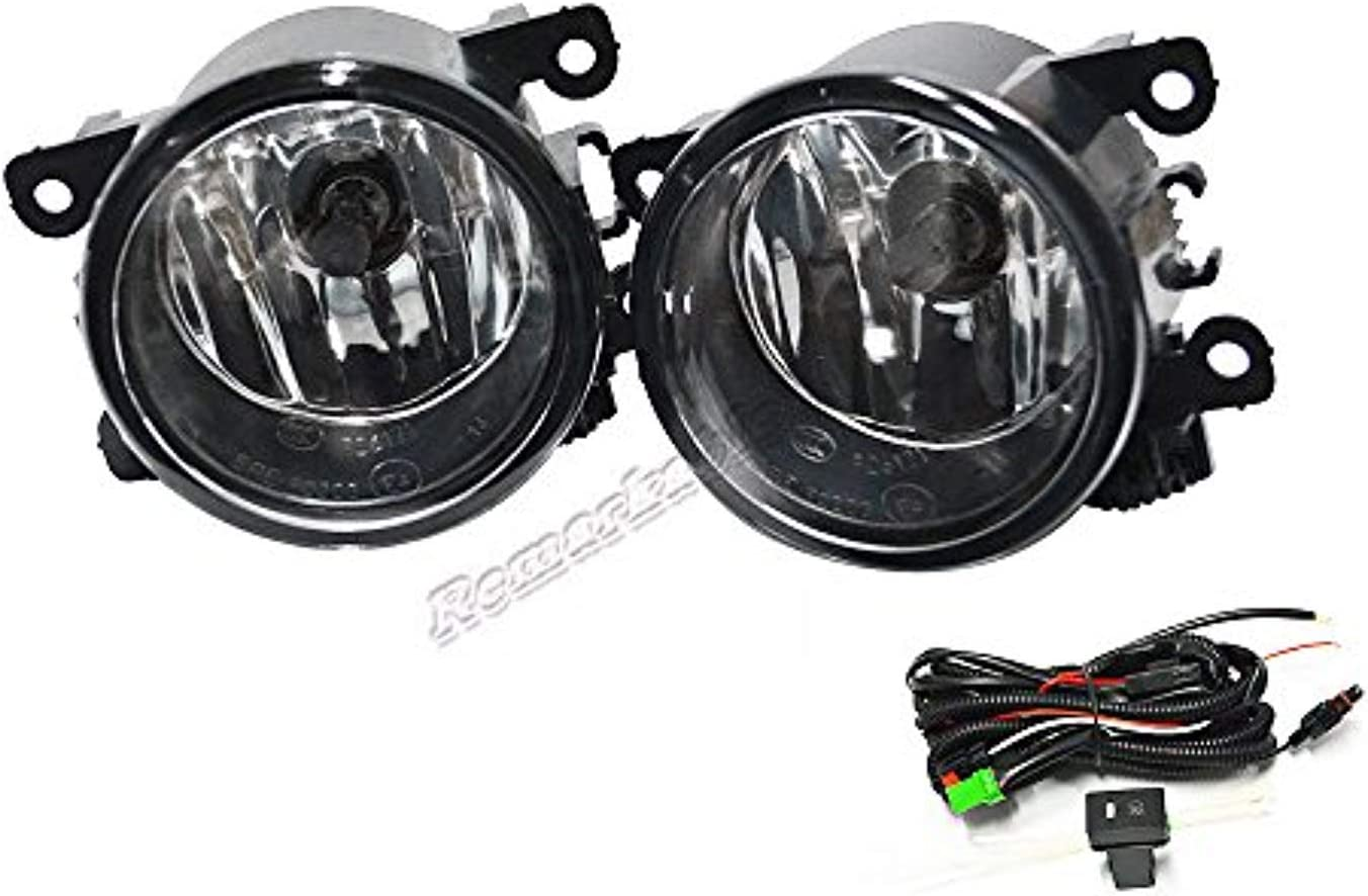 FL7034 Fit for 2012 2013 2014 2015 Pilot Front Pair Fog Lights Driver Bumper Lamps Clear Kit RP Remarkable Power